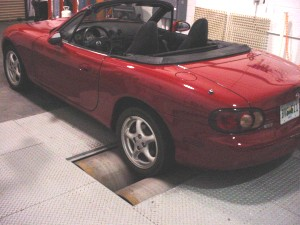 Photo: Car on dynamometer
