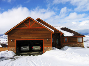 Cars parked in garage during cold weather
